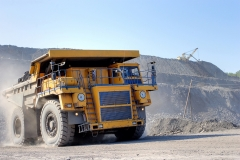 Coal mining. The truck transporting coal.